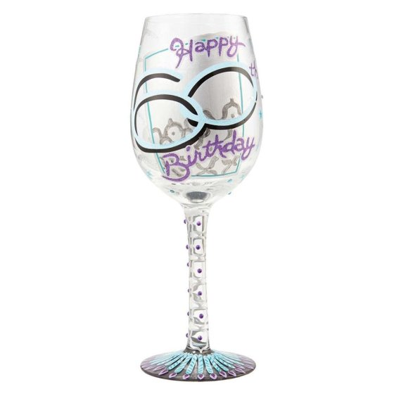 60th Birthday Wine Glass Enesco