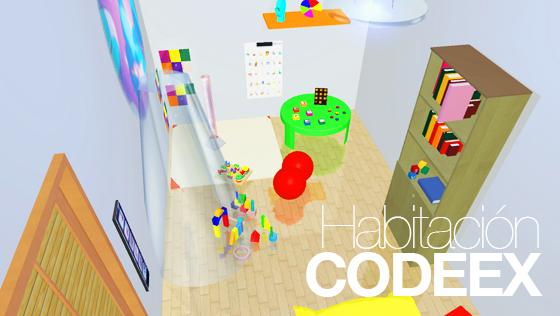 Codeex Habitacion para niños con tea / tgd