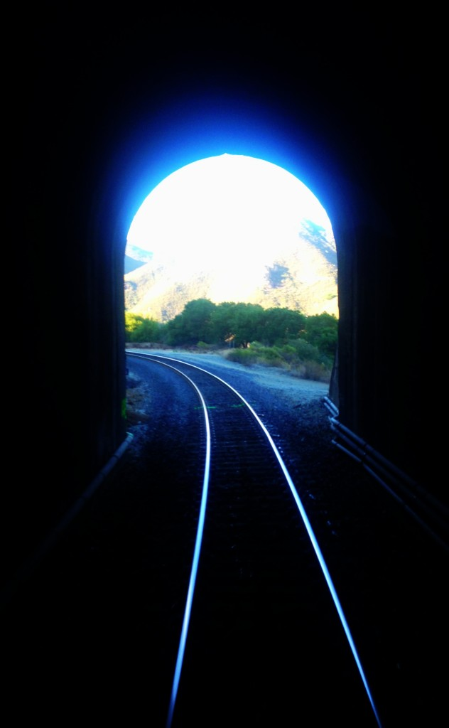 Train tunnel California