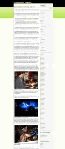Ya instalado en los servidores de eNeZeta, se usó WordPress por primera vez