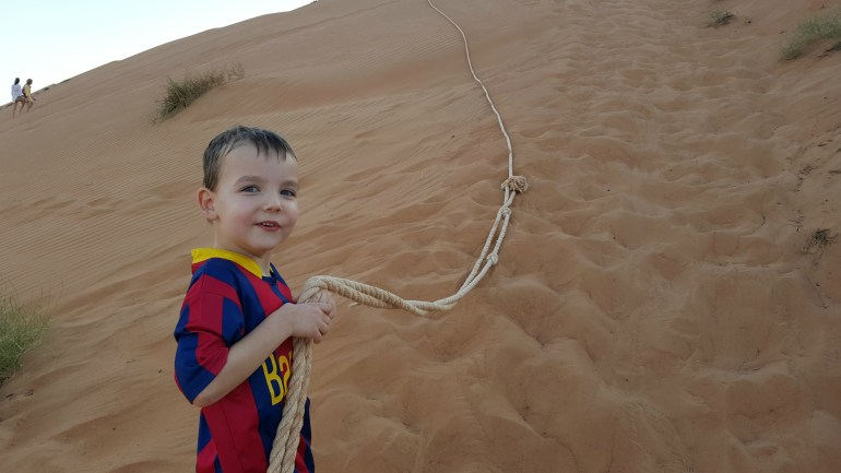 Sanddune i 1000 Nights Camp i Wahiba Sands, Oman