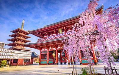 Sensoji-Temple-à-Asakusa,-Tokyo,-Japan