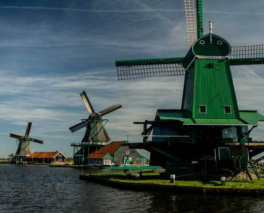Zaanse-Schans-moulin-hollande
