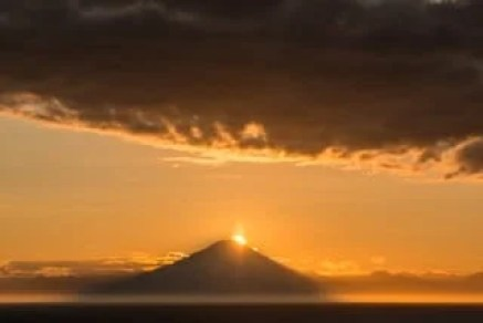 vers-homer-alaska-montagne coucher de soleil