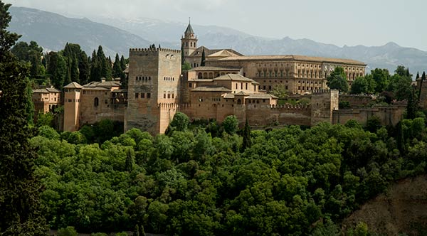 vue sur alhambra depuis grenade
