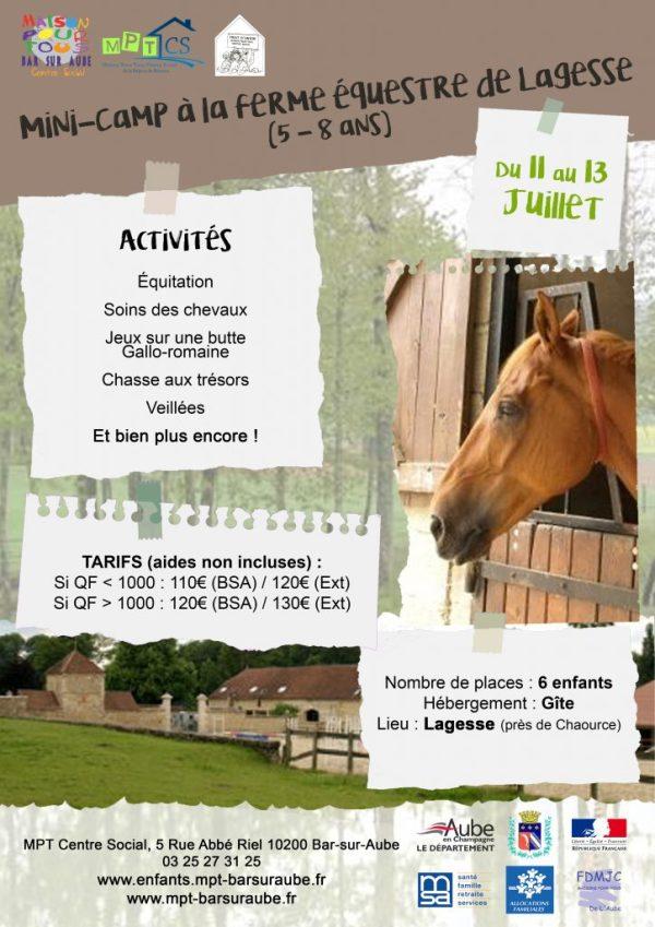 Affiche séjour équestre Lagesse