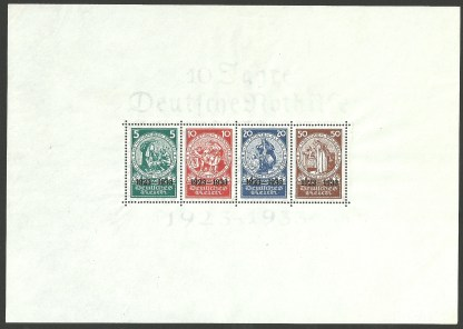 1933 Germany Welfare Fund 'NOTHILFE' MS