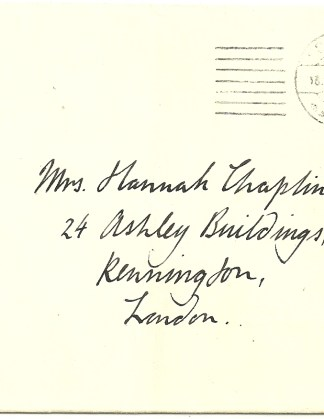 Forgery cancel 1d. imperf. to Hannah Chaplin