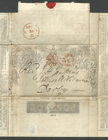 Salisbury Maltese Cross 1840 1d.mulready