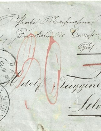 Switzerland 1857 20c.Orange