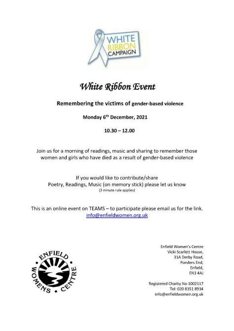 Poster for White Ribbon Event