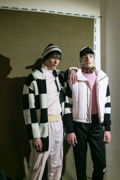 Backstage look at MSGM fall/winter 2017 show in Milan