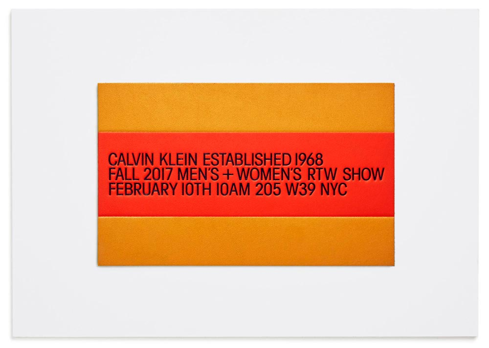 Calvin Klein FW2017 Raf Simons runway show