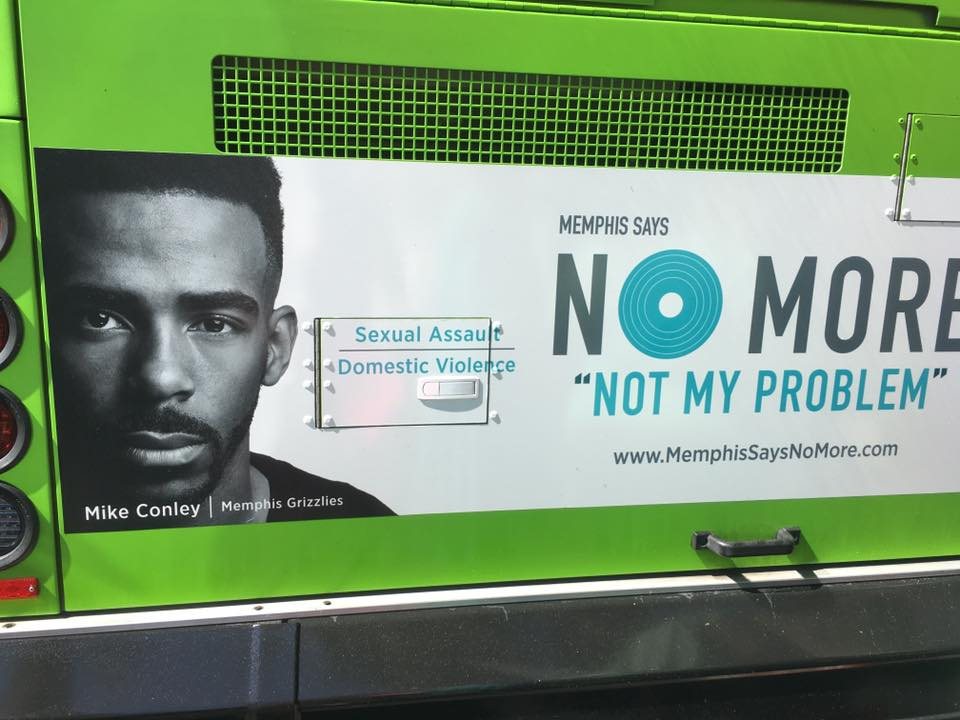 A Memphis Says NO MORE ad on the back of a MATA bus