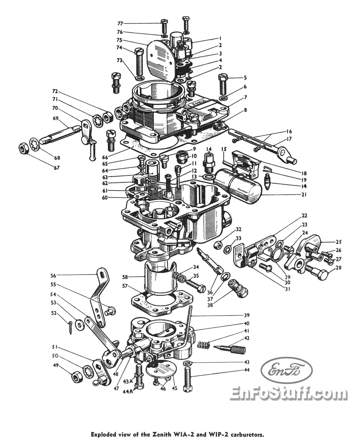Zenith Carburetor Parts Diagram