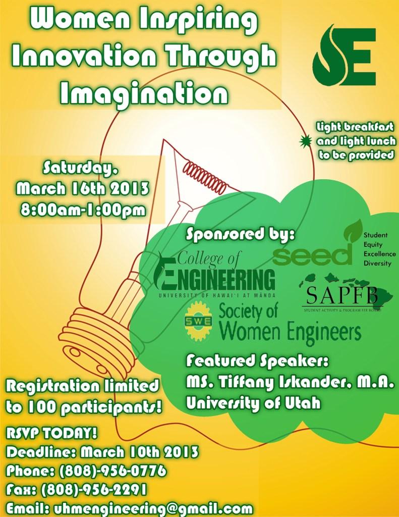 Women Inspiring Innovation Through Imagination Flyer