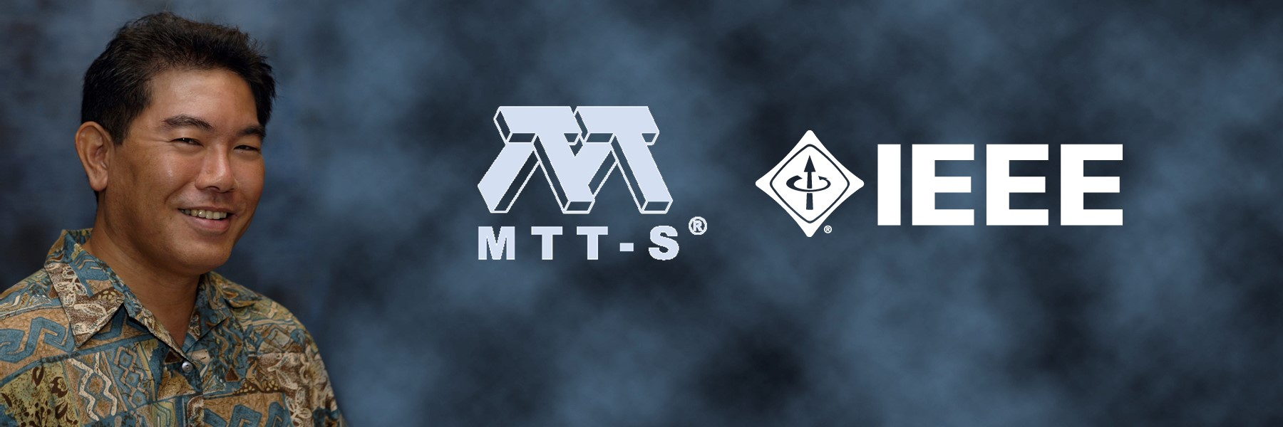 Prof. Shiroma with IEEE and MTT-S logos