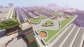 Screenshot of UH Manoa campus in Minecraft.