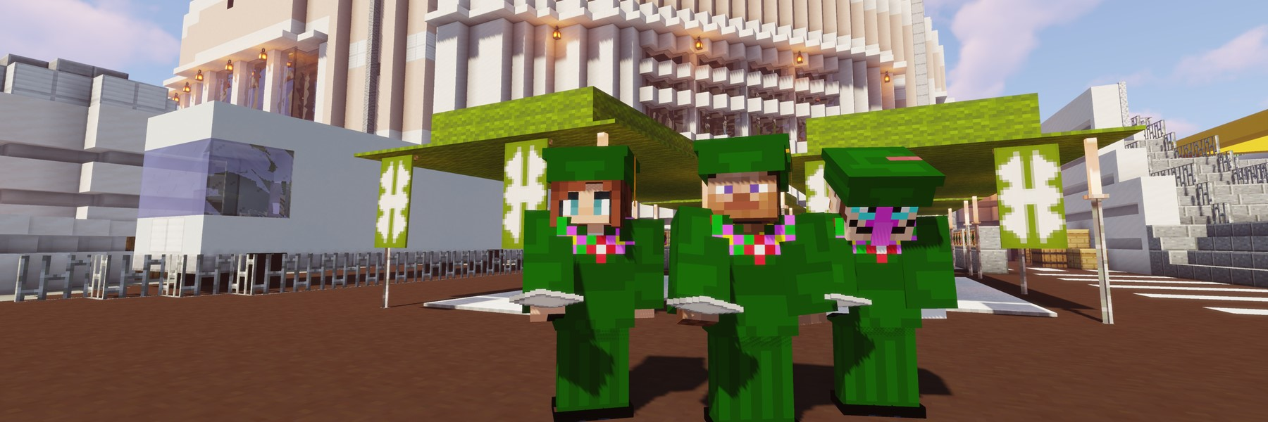 Screenshot Of Minecraft Graduates In Game.