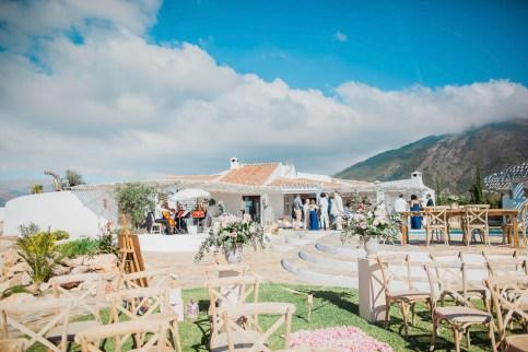 Stunning wedding ceremony area