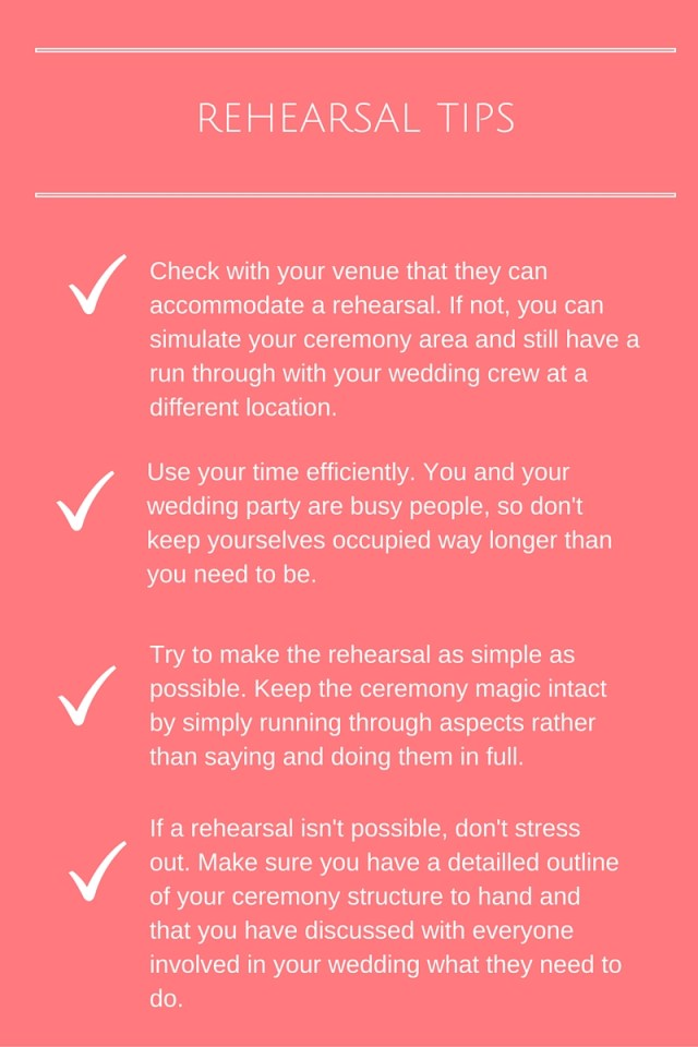 Rehearsal tips