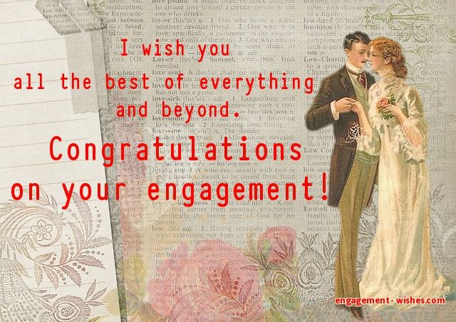 engagement congratulations