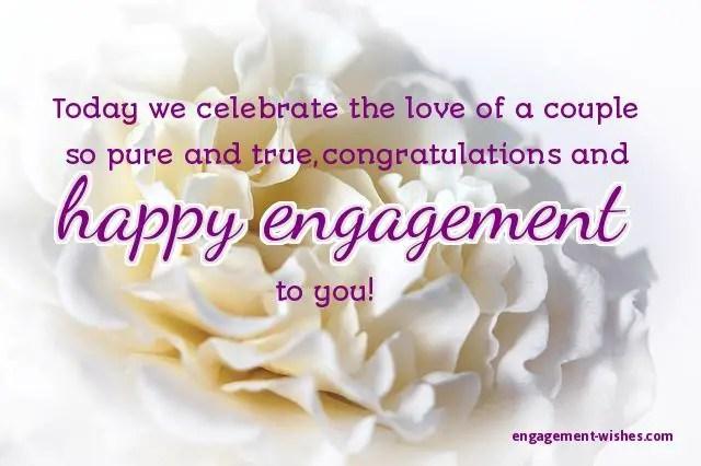 Congratulations for engagement messages
