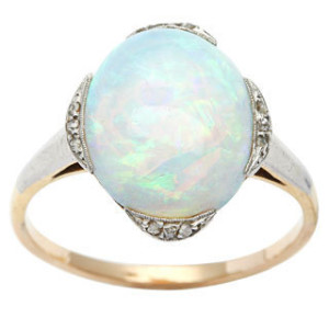 14k-Yellow-Gold-1-10ct-TDW-Diamond-Opal-Antique-Cocktail-Ring-L-M-I2-I3-P15978392