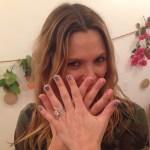 Drew Barrymore's Colorless 4 Carat Radiant Cut Diamond Ring
