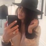 Naya Rivera's Platinum 3.5 Carat Oval Diamond Ring