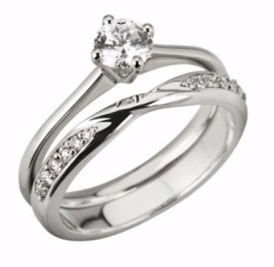 3mm Round Diamond set Shaped Wedding Ring