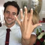 Ali Fedotowski's 3-Carat Emerald Cut Diamond Ring