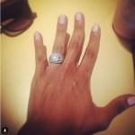 Bobbi Kristina Houston's 10 Carat Cushion Cut Diamond Ring
