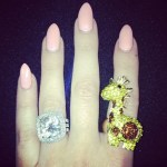 Khloe Kardashian's 12.5 Carat Radiant Cut Diamond Ring