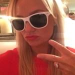 Emma Bunton's 3 Carat Brilliant Round Cut Diamond Ring