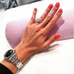 Ester Satorova's 5 Carat Square Cut Diamond Ring