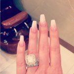 Kim Zolciak's 10 Carat Cushion Cut Diamond Ring