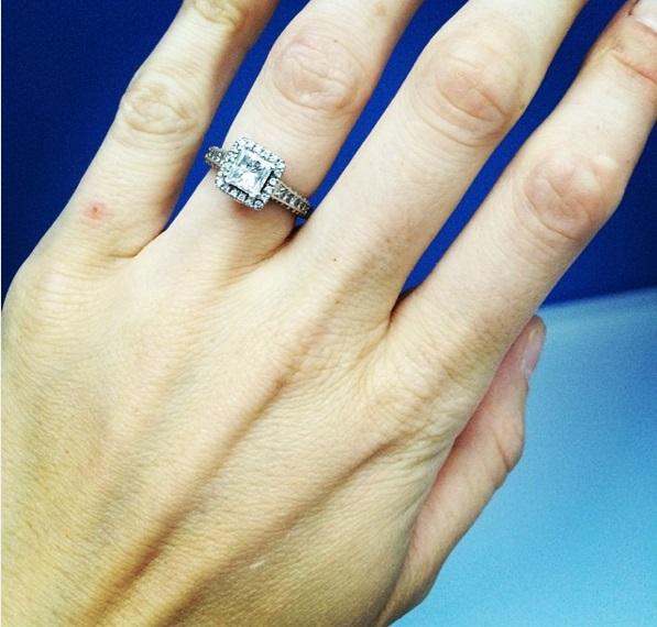 37398e9f0807e Phoebe Dahl's 1.5 Carat Princess Cut Diamond Ring
