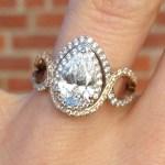 Jenna Reeves' 1 Carat Pear Shaped Diamond Ring