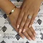 Jessica Parido's 4.5 Carat Cushion Cut Diamond Ring
