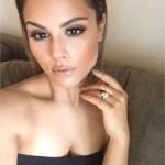 Pia Toscano's Pear Shaped Diamond Ring