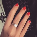 Dominika Cibulkova's Round Diamond Ring