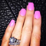 Maryse Ouellet's Round Diamond Ring