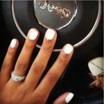 Ariana King's Square Shaped Diamond Ring