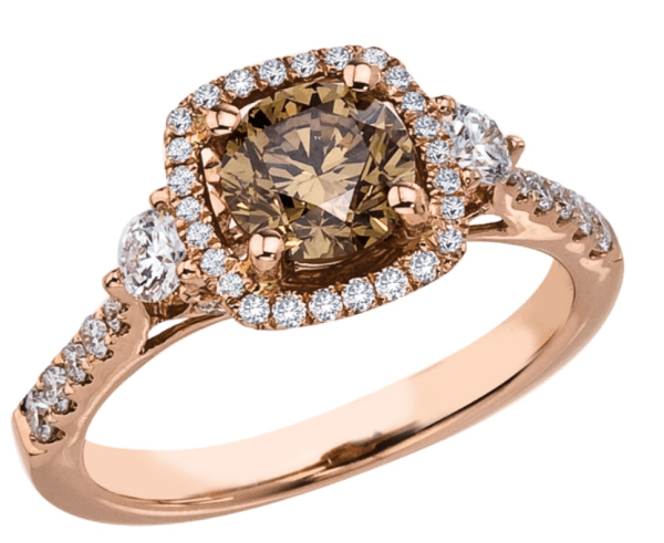 Brown-diamond-in-rose-gold-ring-setting