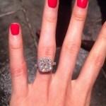 Katherine Webb's Cushion Cut Diamond Ring