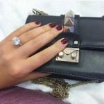 Oksana Andersson's Round Cut Diamond Ring