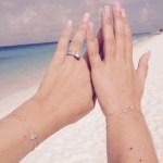 Yolanthe Cabau van Kasbergen's Square Shaped Diamond Ring