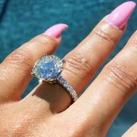 Blac Chyna's Cushion Cut Diamond Ring