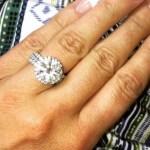 Danielle Lloyd's Round Cut Diamond Ring